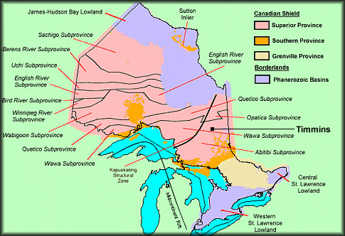 Geology Porcupine Prospectors And Developers Association - Us Map Rivers